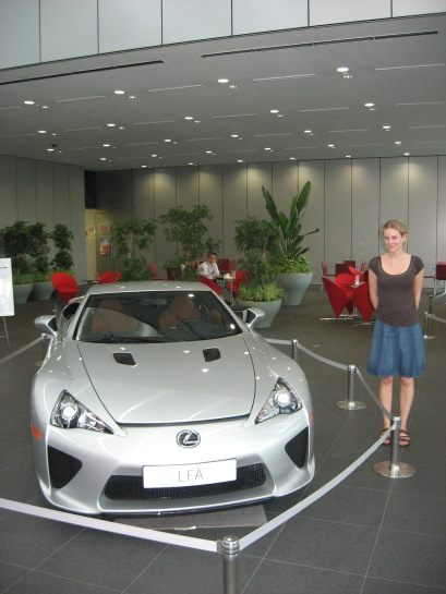 Girl meets car - the Lexus LFA