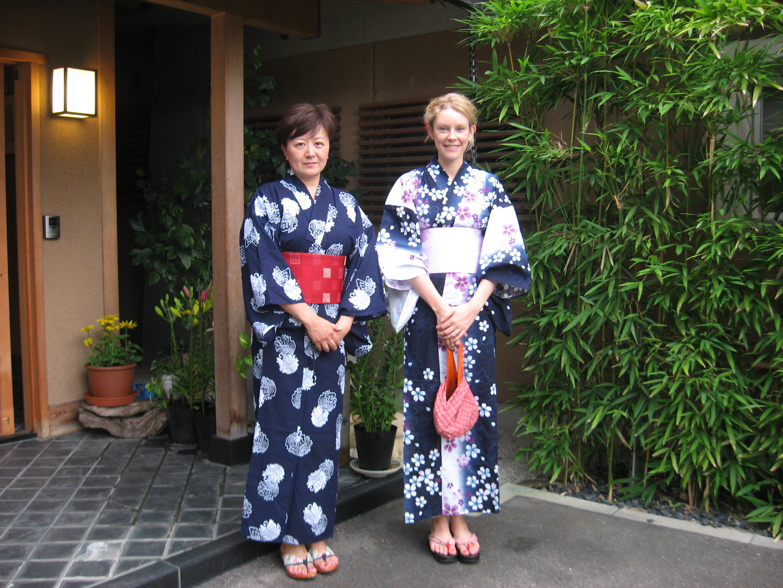 Hanae-san and Helena in yukata