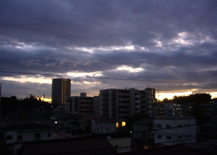 clear skies after typhoon over Toyota City