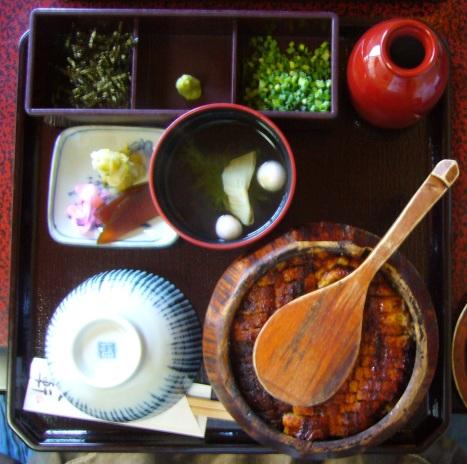 Hitsumabushi grilled eel