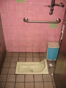 Japanese toilet in Fushimi station