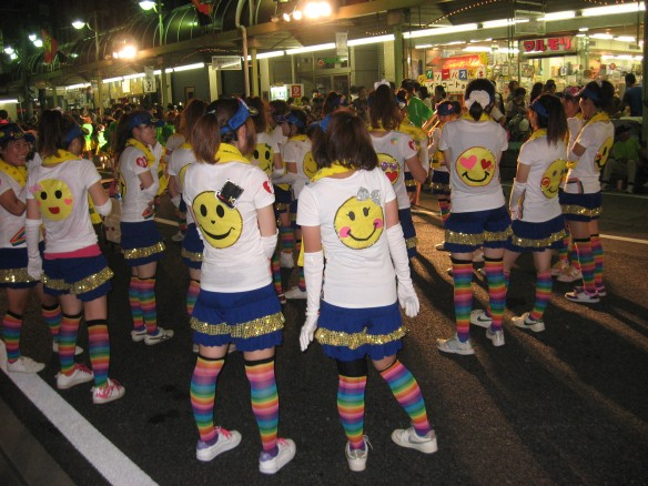 Oiden festival Toyota City smiley costumes