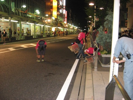Clean up after Oiden, the Toyota City festival