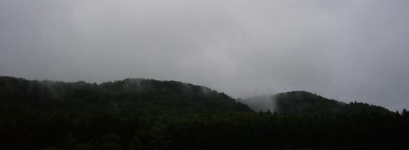 Hokkaido mountains at dusk