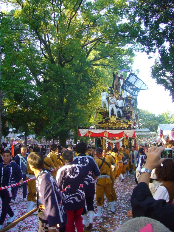 Toyota City Koromo Matsuri pulling the float