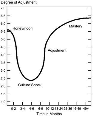 culture shock U-Curve