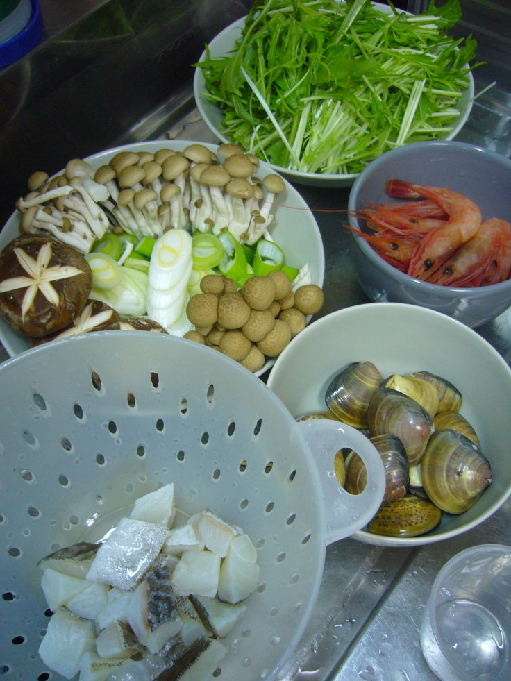 ingredients for yosenabe