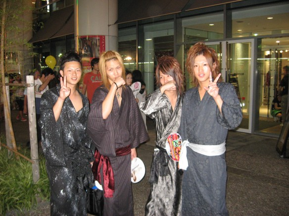 4 guys in yukata