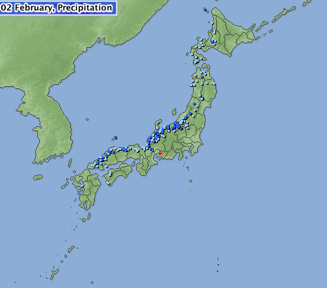 japan precipitation map