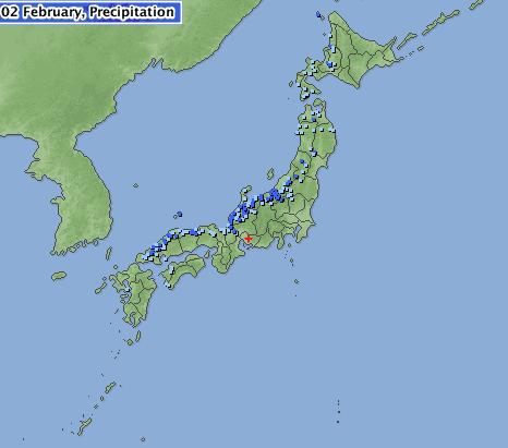 japan precipitation map