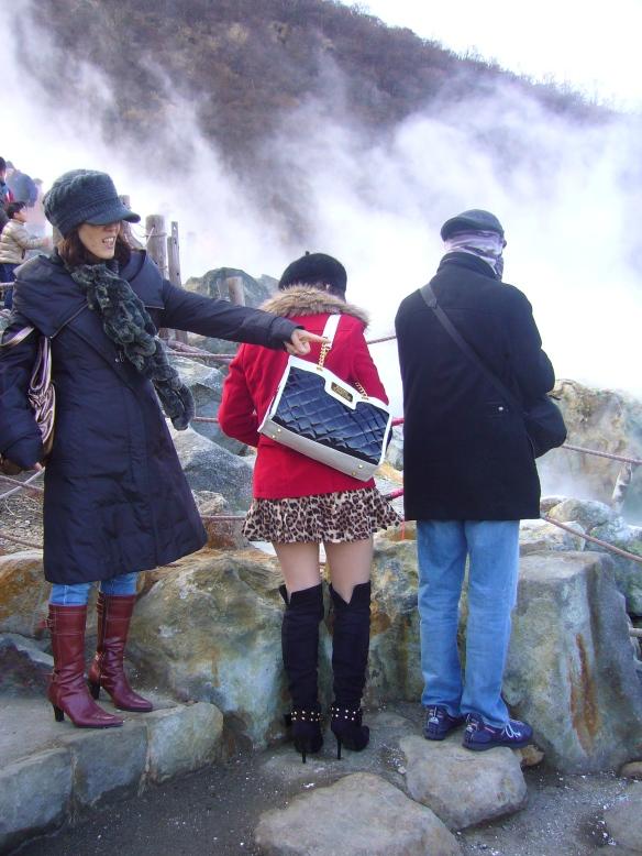 miniskirt in freezing weather