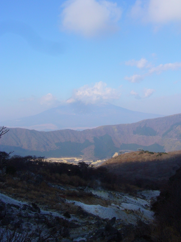view of mount fuji from hakone