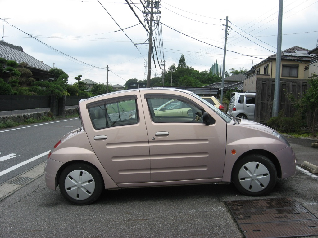 Oddly shaped Japanese car