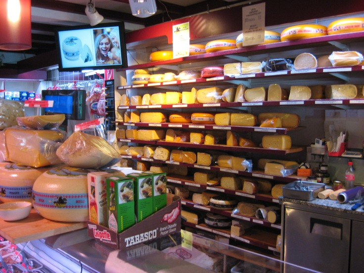 dutch cheese in a cheese shop in The Netherlands