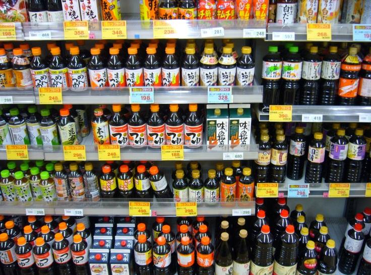 tsuyu sauce in a Japanese supermarket