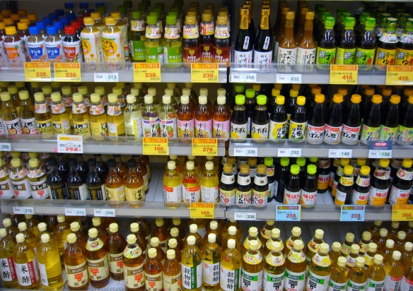 Ponzu sauce in Japanese supermarket