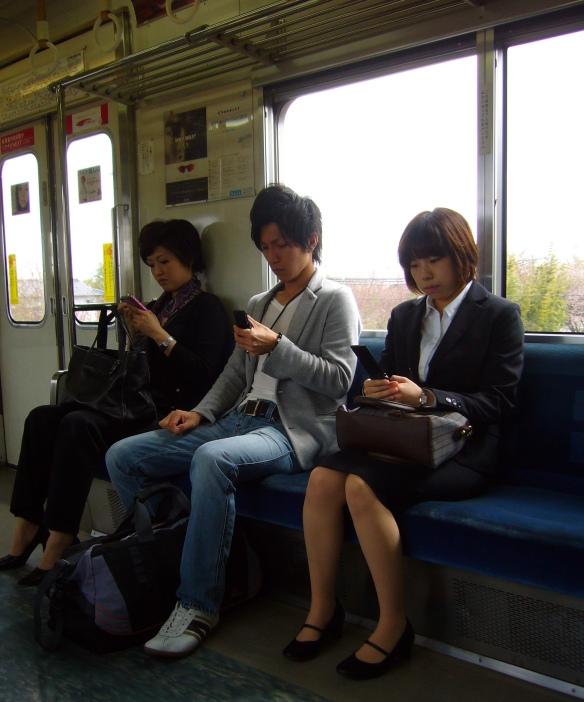 Stylish Japanese guy, wearing a tailored jacket made of sweat pants fabric