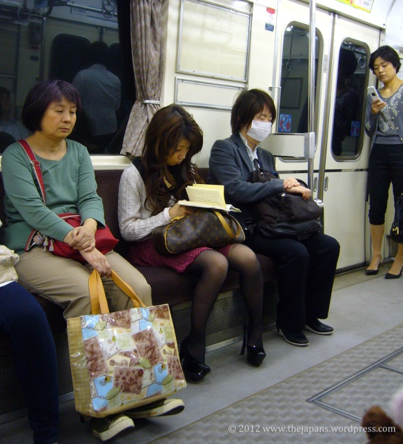 Mouthmask on the train in Japan