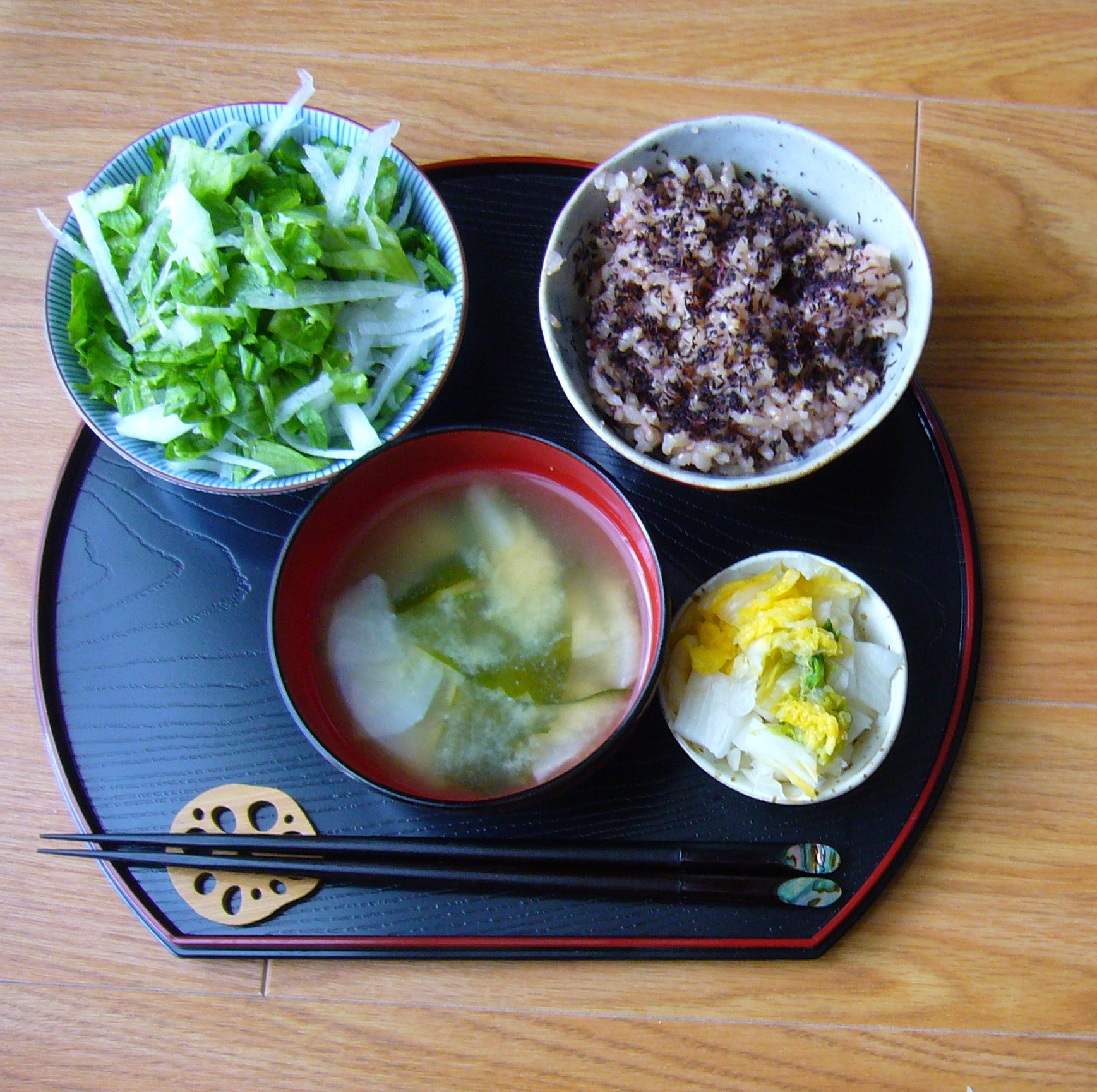 ! You have the basis for a simple Japanese home cooked meal. Enjoy