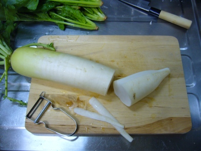 peel the daikon