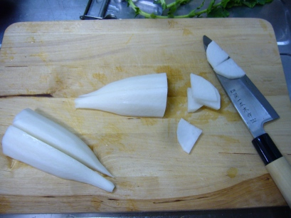slice the daikon
