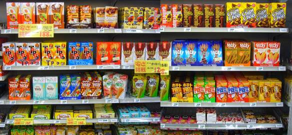 different kinds of pocky in japan