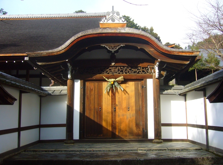 shimekazari at ryoanji temple in kyoto