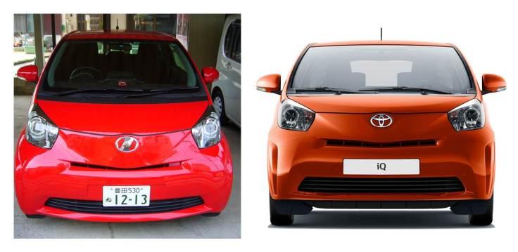 japanese and european toyota IQ, Japanese Toyota logo