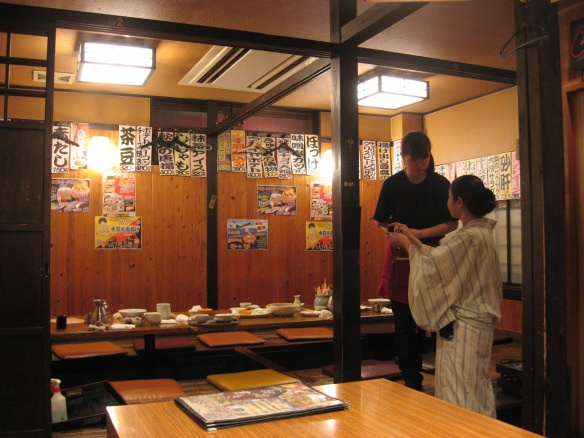 private nomikai booth in a Japanese restaurant