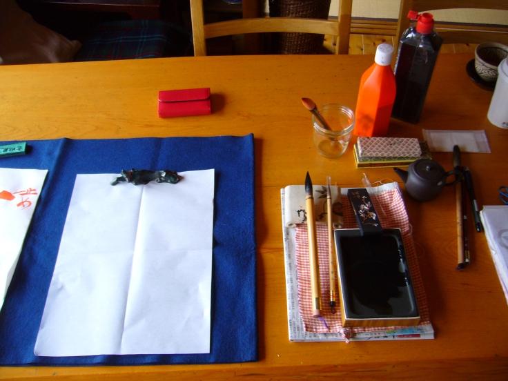 utensils for japanese calligraphy