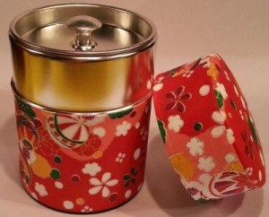 japanese decorative tea tin