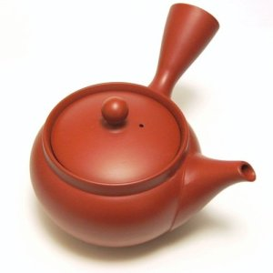 red Japanese teapot kyusu