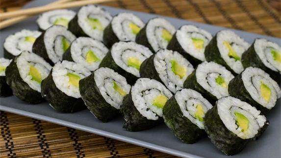 Japanese sushi rolls makizushi