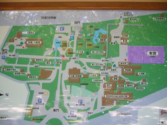 a map of all available AEDs in Atsuta jingu in Nagoya, Japan