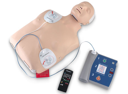 philips heartstart AED placement of electrodes