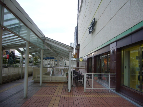starbucks terrace in Toyota City, Japan
