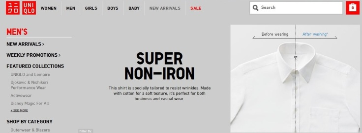 uniqlo non iron shirt