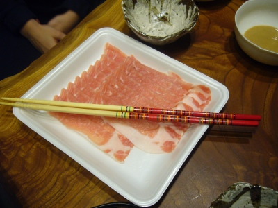 Japanese nabe meat