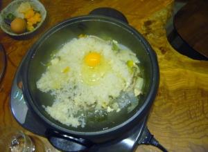 japanese nabe party baked rice