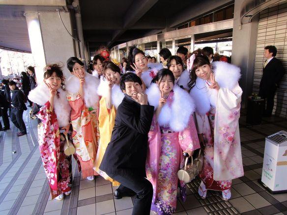 Coming of age day kimono
