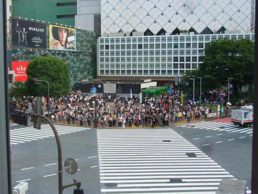 shibuya pedestrian crossing